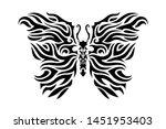 Beautiful Tattoo Art With Blac...
