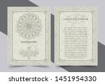 antique gold greeting card with ... | Shutterstock .eps vector #1451954330