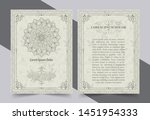 antique gold greeting card with ... | Shutterstock .eps vector #1451954333