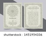 antique gold greeting card with ... | Shutterstock .eps vector #1451954336