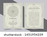antique gold greeting card with ... | Shutterstock .eps vector #1451954339