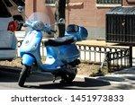 Beautiful Blue Electric Moped...
