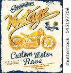 illustration retro race motor...   Shutterstock .eps vector #145197706