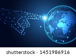 abstract technology line... | Shutterstock .eps vector #1451986916