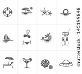 Beach & Summer Icons - stock vector