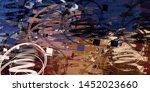 abstract geometric random... | Shutterstock . vector #1452023660