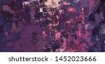 abstract geometric random... | Shutterstock . vector #1452023666