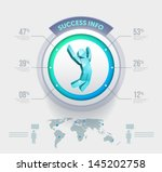 vector people infographic... | Shutterstock .eps vector #145202758