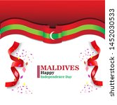 maldives happy independence day ...   Shutterstock .eps vector #1452030533