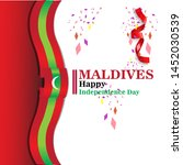 maldives happy independence day ...   Shutterstock .eps vector #1452030539