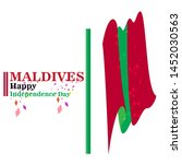 maldives happy independence day ...   Shutterstock .eps vector #1452030563