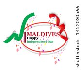 maldives happy independence day ...   Shutterstock .eps vector #1452030566