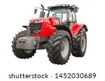 Big Red Agricultural Tractor ...