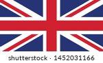 uk flag illustration textured... | Shutterstock .eps vector #1452031166