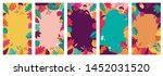 autumn  fall banners ... | Shutterstock .eps vector #1452031520