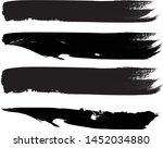 grunge paint roller . vector... | Shutterstock .eps vector #1452034880