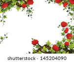 The rose frame - border - template - with roses - valentines - fairy tales - illustration for the children - stock photo