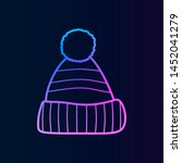 warm hat nolan icon. simple...