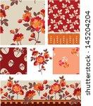summer floral vector seamless... | Shutterstock .eps vector #145204204