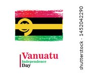 banner or poster of vanuatu...   Shutterstock .eps vector #1452042290