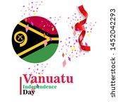 banner or poster of vanuatu...   Shutterstock .eps vector #1452042293