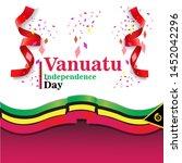 banner or poster of vanuatu...   Shutterstock .eps vector #1452042296