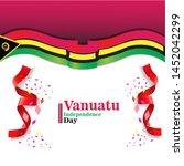 banner or poster of vanuatu...   Shutterstock .eps vector #1452042299