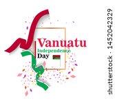 banner or poster of vanuatu...   Shutterstock .eps vector #1452042329
