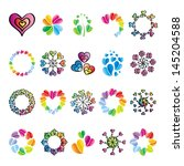 collection of signs heart | Shutterstock .eps vector #145204588