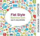 flat style talk icon   ... | Shutterstock .eps vector #145204738