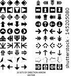 set of arrow icon   eps10... | Shutterstock .eps vector #145205080