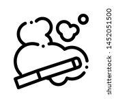 cigarette and smoke steam... | Shutterstock .eps vector #1452051500