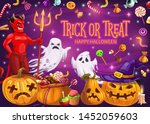 halloween holiday trick or... | Shutterstock .eps vector #1452059603