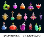 witch potions  halloween party... | Shutterstock .eps vector #1452059690