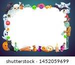halloween horror night holiday  ... | Shutterstock .eps vector #1452059699