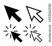 modern cursor icons vector set. ...   Shutterstock .eps vector #1452062330
