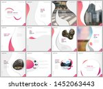 brochure templates with trendy... | Shutterstock .eps vector #1452063443