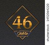 german golden number forty six... | Shutterstock .eps vector #1452064220