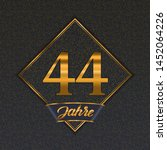 german golden number forty four ... | Shutterstock .eps vector #1452064226