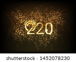 happy new year 2020   marry... | Shutterstock .eps vector #1452078230
