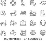 set of insurance icons  such as ... | Shutterstock .eps vector #1452080933