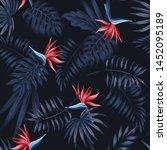 Exotic Tropical Flowers Bird O...