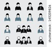 people icons | Shutterstock .eps vector #145209826