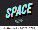 space typeface 3d bold colorful ...   Shutterstock .eps vector #1452110720