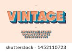 vector vintage colorful font.... | Shutterstock .eps vector #1452110723