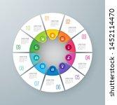 infographics design paper art... | Shutterstock .eps vector #1452114470