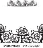 black and white graphic frame...   Shutterstock .eps vector #1452122330