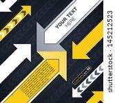 industrial techno style  arrow  | Shutterstock .eps vector #145212523