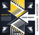industrial techno style  arrow    Shutterstock .eps vector #145212589