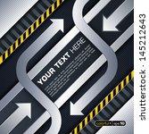 industrial techno style  arrow  | Shutterstock .eps vector #145212643